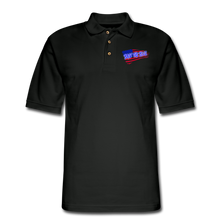Load image into Gallery viewer, BACK THE BLUE Pique Polo Shirt - black