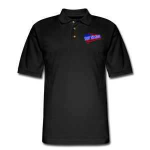 BACK THE BLUE Pique Polo Shirt - black