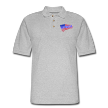 Load image into Gallery viewer, BACK THE BLUE Pique Polo Shirt - heather gray