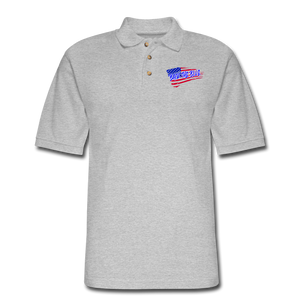 BACK THE BLUE Pique Polo Shirt - heather gray