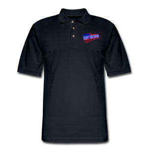 BACK THE BLUE Pique Polo Shirt - midnight navy