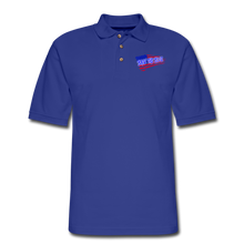 Load image into Gallery viewer, BACK THE BLUE Pique Polo Shirt - royal blue