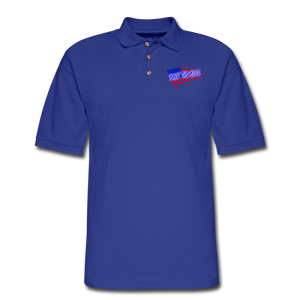 BACK THE BLUE Pique Polo Shirt - royal blue