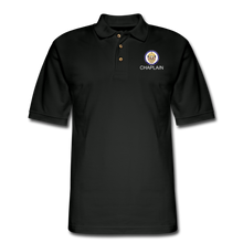 Load image into Gallery viewer, POLICE CHAPLAIN PROGRAM Pique Polo Shirt - black