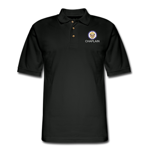 POLICE CHAPLAIN PROGRAM Pique Polo Shirt - black