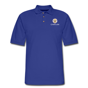 POLICE CHAPLAIN PROGRAM Pique Polo Shirt - royal blue