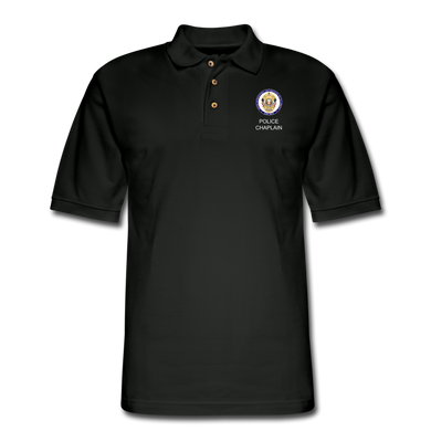 Police Chaplain Pique Polo Shirt - black