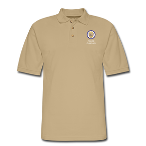 Police Chaplain Pique Polo Shirt - beige