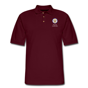 Police Chaplain Pique Polo Shirt - burgundy