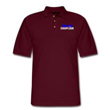 Load image into Gallery viewer, POLICE CHAPLAIN Pique Polo Shirt - burgundy