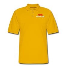 Load image into Gallery viewer, FIRE CHAPLAIN Pique Polo Shirt - Yellow