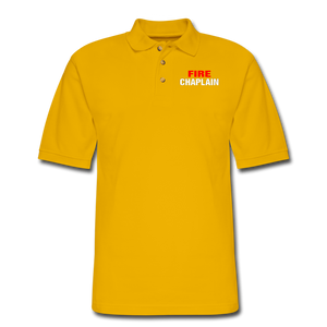 FIRE CHAPLAIN Pique Polo Shirt - Yellow