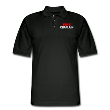 Load image into Gallery viewer, FIRE CHAPLAIN Pique Polo Shirt - black