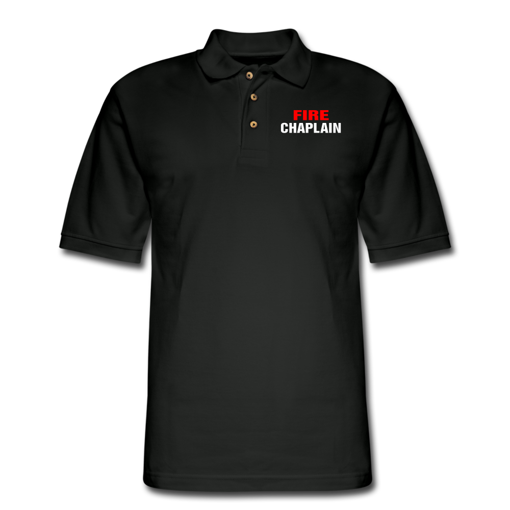 FIRE CHAPLAIN Pique Polo Shirt - black