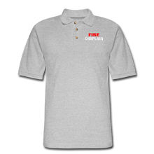 Load image into Gallery viewer, FIRE CHAPLAIN Pique Polo Shirt - heather gray