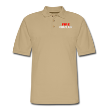 Load image into Gallery viewer, FIRE CHAPLAIN Pique Polo Shirt - beige