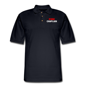 FIRE CHAPLAIN Pique Polo Shirt - midnight navy