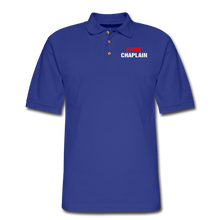 Load image into Gallery viewer, FIRE CHAPLAIN Pique Polo Shirt - royal blue