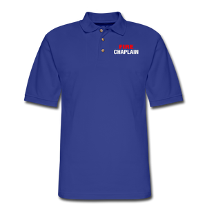 FIRE CHAPLAIN Pique Polo Shirt - royal blue