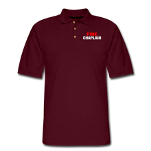 Load image into Gallery viewer, FIRE CHAPLAIN Pique Polo Shirt - burgundy