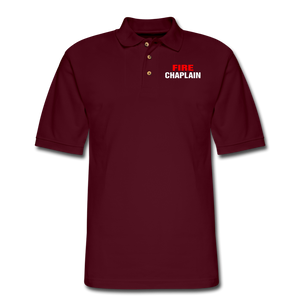 FIRE CHAPLAIN Pique Polo Shirt - burgundy