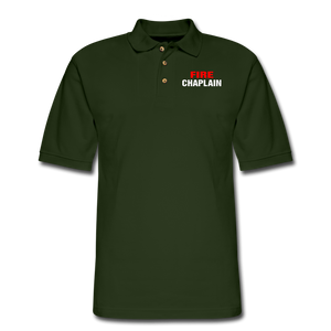 FIRE CHAPLAIN Pique Polo Shirt - forest green