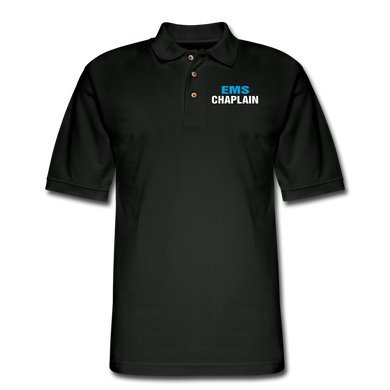 EMS CHAPLAIN Pique Polo Shirt - black