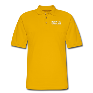 HOSPITAL CHAPLAIN Pique Polo Shirt - Yellow