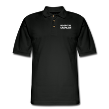 Load image into Gallery viewer, HOSPITAL CHAPLAIN Pique Polo Shirt - black