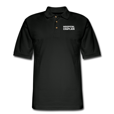 HOSPITAL CHAPLAIN Pique Polo Shirt - black