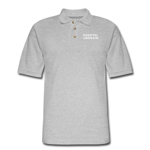 HOSPITAL CHAPLAIN Pique Polo Shirt - heather gray