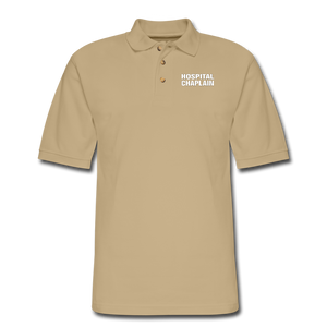 HOSPITAL CHAPLAIN Pique Polo Shirt - beige