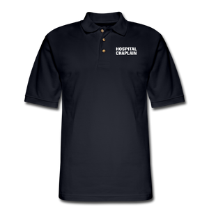 HOSPITAL CHAPLAIN Pique Polo Shirt - midnight navy