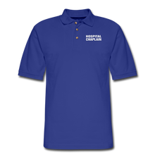 Load image into Gallery viewer, HOSPITAL CHAPLAIN Pique Polo Shirt - royal blue
