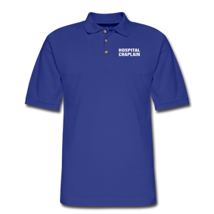HOSPITAL CHAPLAIN Pique Polo Shirt - royal blue