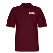 Load image into Gallery viewer, HOSPITAL CHAPLAIN Pique Polo Shirt - burgundy