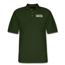 Load image into Gallery viewer, HOSPITAL CHAPLAIN Pique Polo Shirt - forest green