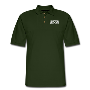 HOSPITAL CHAPLAIN Pique Polo Shirt - forest green