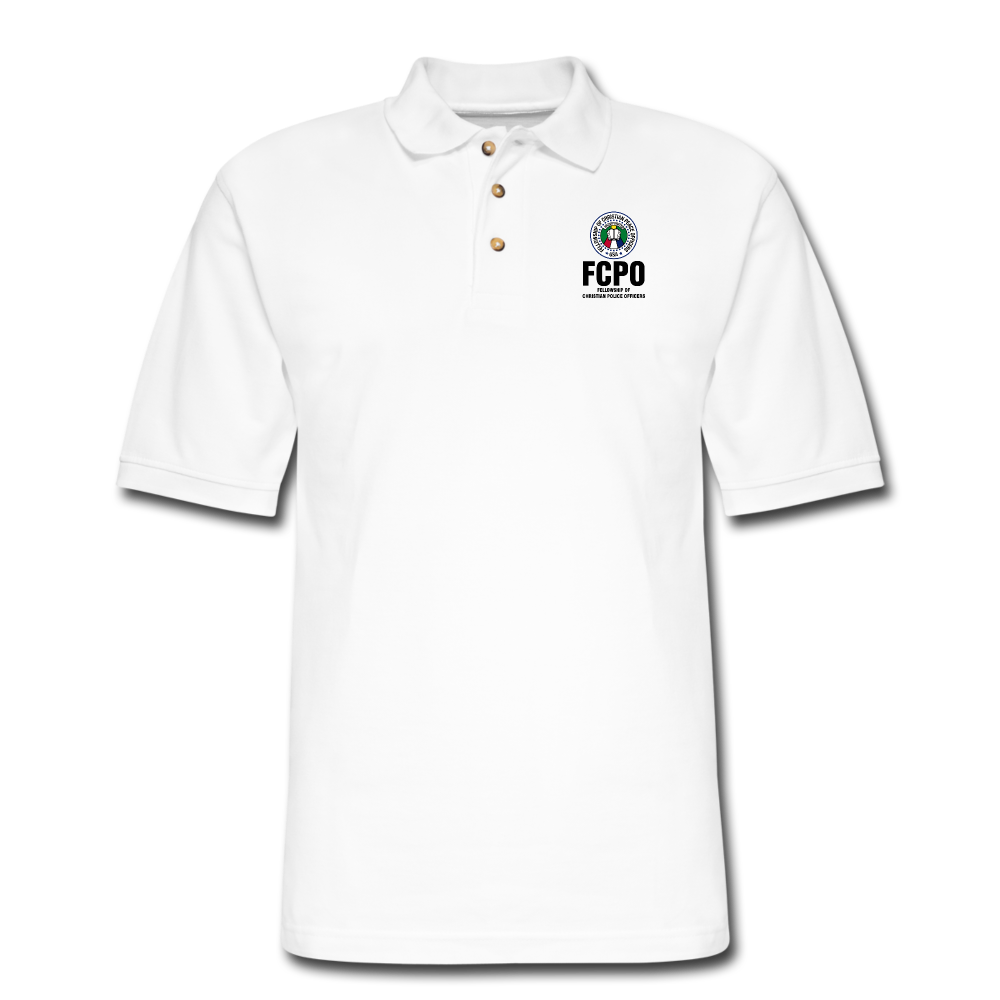 FCPO Men's Pique Polo Shirt - white