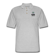 Load image into Gallery viewer, FCPO Men's Pique Polo Shirt - heather gray