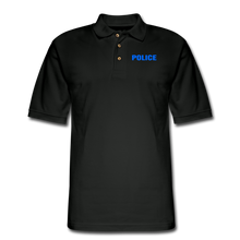 Load image into Gallery viewer, POLICE Pique Polo Shirt - black