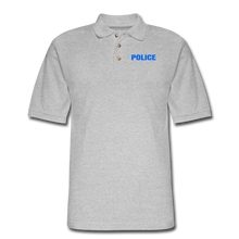 Load image into Gallery viewer, POLICE Pique Polo Shirt - heather gray