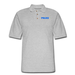 POLICE Pique Polo Shirt - heather gray