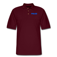 Load image into Gallery viewer, POLICE Pique Polo Shirt - burgundy