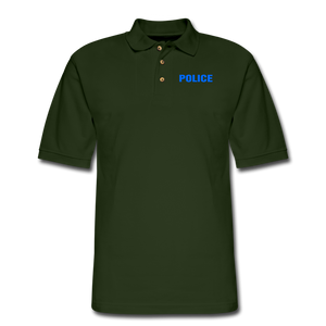 POLICE Pique Polo Shirt - forest green