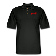 Load image into Gallery viewer, FIREFIGHTER Men's Pique Polo Shirt - black