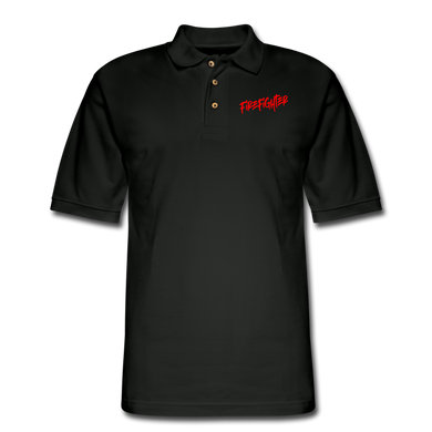 FIREFIGHTER Men's Pique Polo Shirt - black