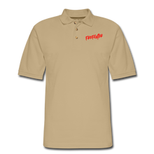 Load image into Gallery viewer, FIREFIGHTER Men's Pique Polo Shirt - beige