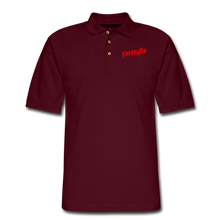 Load image into Gallery viewer, FIREFIGHTER Men's Pique Polo Shirt - burgundy