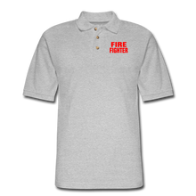 Load image into Gallery viewer, FIRE FIGHTER Men's Pique Polo Shirt - heather gray